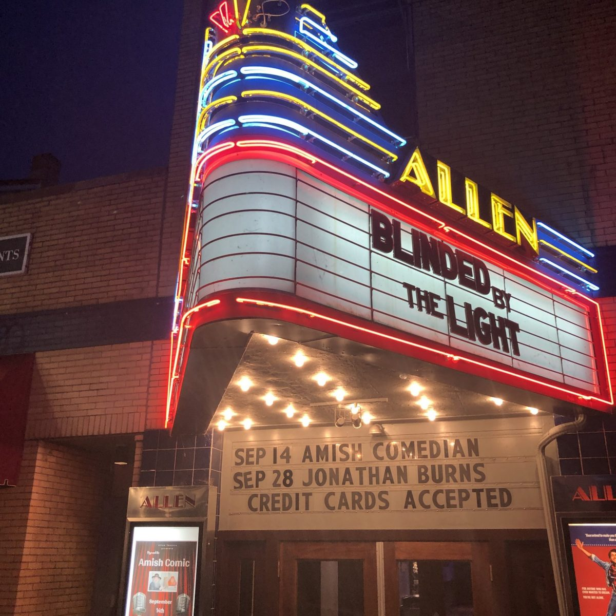 the allen theatre sign